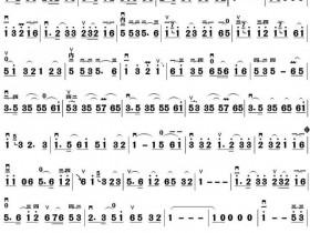 垫指练习曲谱《扬州小调》