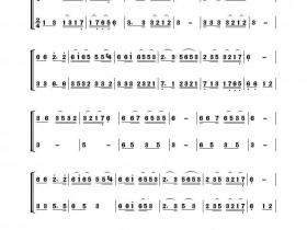四季歌二胡二重奏(四季歌二胡曲谱)
