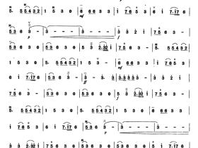 伏尔加船夫曲二胡曲谱