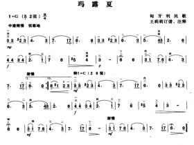 马露夏二胡曲谱