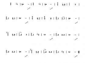 小红花古筝曲谱