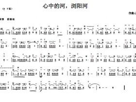 心中的河浏阳河二胡独奏曲谱