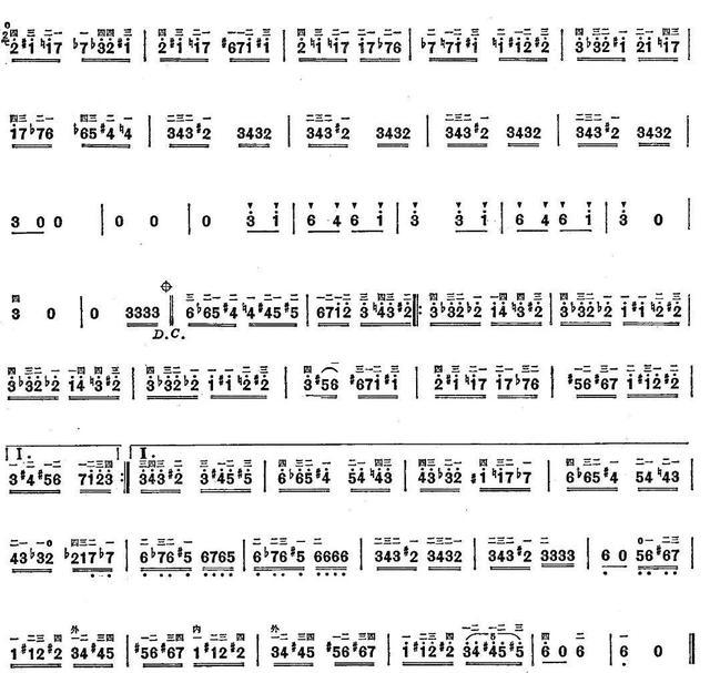 半音练习曲谱《野蜂飞舞》