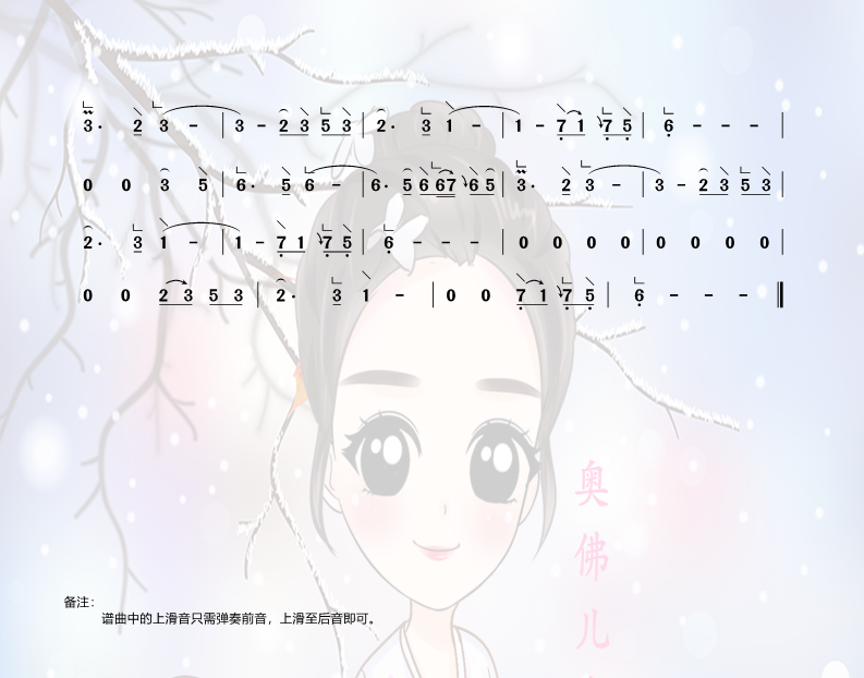 琵琶语古筝简谱(琵琶语古筝曲谱)