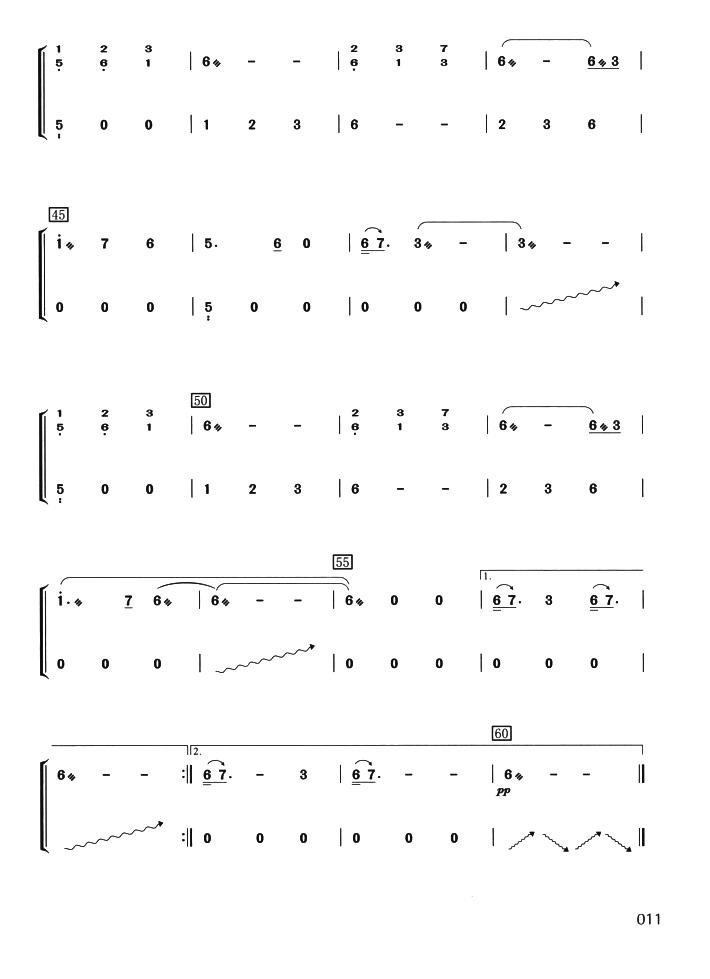 满月古筝曲谱(芈月传片头曲)